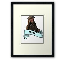 Pirates Of The Caribbean Savvy? Framed Print