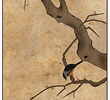 Asian Bird Painting by surlana