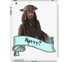 Pirates Of The Caribbean Savvy? iPad Case/Skin