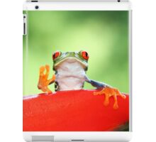 """""""Live long and Prosper"""" Red-eyed Tree Frog iPad Case/Skin"""