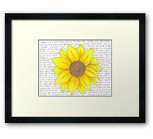 Whitman Sunflower Framed Print
