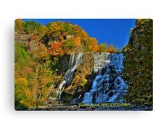 Autumn at Ithaca falls HDR Canvas Print