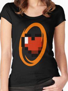 Portal Lover ! Orange Women's Fitted Scoop T-Shirt