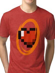 Portal Lover ! Orange Tri-blend T-Shirt