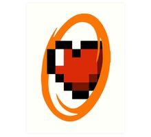 Portal Lover ! Orange Art Print