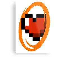 Portal Lover ! Orange Metal Print