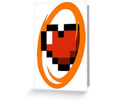 Portal Lover ! Orange Greeting Card