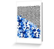 Monroe - India ink, indigo, dots, spots, print pattern, surface design Greeting Card