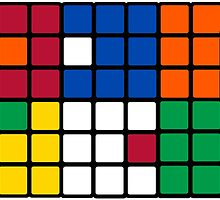 Mixed Up Cube - Rubiks by GlesgaGeek