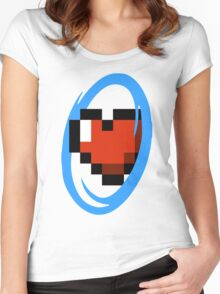 Portal Lover ! Blue Women's Fitted Scoop T-Shirt