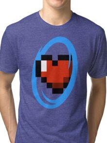 Portal Lover ! Blue Tri-blend T-Shirt