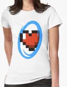 Portal Lover ! Blue Womens Fitted T-Shirt