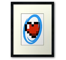 Portal Lover ! Blue Framed Print