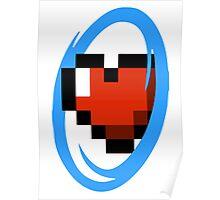 Portal Lover ! Blue Poster