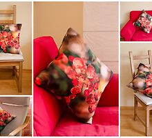 First Throw Pillow by Kasia Dixon by Kasia-D