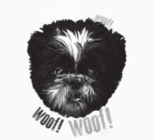 Shih-Tzu Says Woof! Woof! One Piece - Short Sleeve