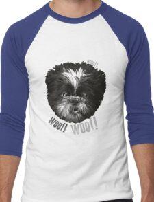 Shih-Tzu Says Woof! Woof! Men's Baseball ¾ T-Shirt