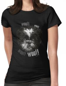 Shih-Tzu Says Woof! Woof! Womens Fitted T-Shirt