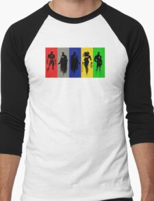 Silhouettes of Justice Men's Baseball ¾ T-Shirt