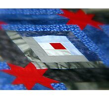 The Blue And The Grey An American Quilt Photographic Print