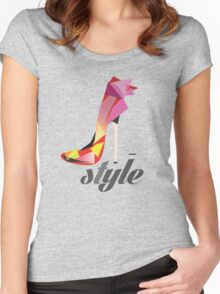 Style high heels Women's Fitted Scoop T-Shirt