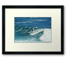 Surfing at Fairy Bower, Manly, NSW, Australia  Framed Print