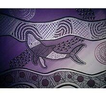Aboriginal Purple Whale Photographic Print