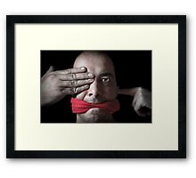 ... no evil Framed Print