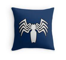 Venom crest Throw Pillow