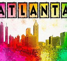Atlanta Skyline In Living Color by Mark Tisdale