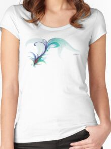 Peacock Dreams Women's Fitted Scoop T-Shirt