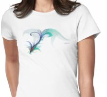 Peacock Dreams Womens Fitted T-Shirt