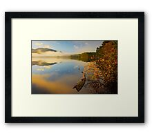 Morning at loch Garten, Scotland Framed Print