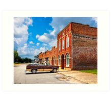 Gone To Town - Small Town Americana Art Print