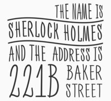 The name is Sherlock Holmes... by cucumberpatchx