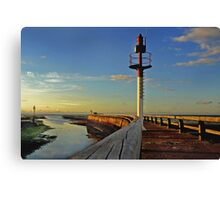 Sunset on the Jetty Canvas Print