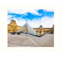Beautiful Day In The Louvre Courtyard - Paris Art Print