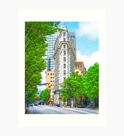 Dowtown Atlanta - The Historic English-American Building Art Print