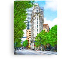 Dowtown Atlanta - The Historic English-American Building Canvas Print