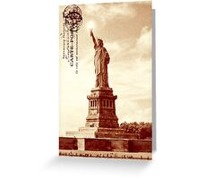 Classic America - The Statue Of Liberty Greeting Card
