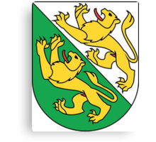 Coat of Arms of Thurgau Canton Canvas Print