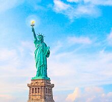 Lift my lamp beside the golden door - The Statue Of Liberty by Mark Tisdale