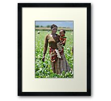 Mother At Work Framed Print