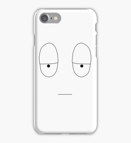 Simple Mood Smiley Face - Reluctant (T-Shirt, Tote Bag, etc) iPhone Case/Skin