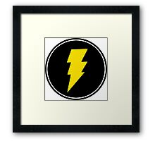 Lightning bolt - Music Framed Print