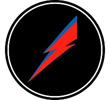 Red/Blue Lightning Bolt  Photographic Print
