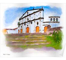 Neoclassical Facade of Convento San Francisco - Granada Poster