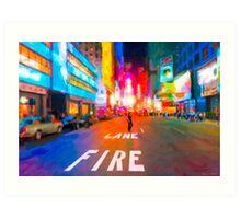 Bright Lights Of Broadway - New York City Art Print