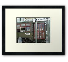 Streetcar Named Canal Framed Print