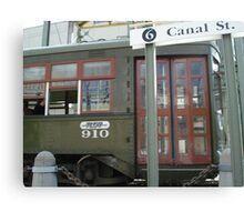 Streetcar Named Canal Canvas Print